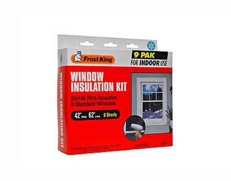 Frost king window insulation kit plastic film for windows for Window insulation kit