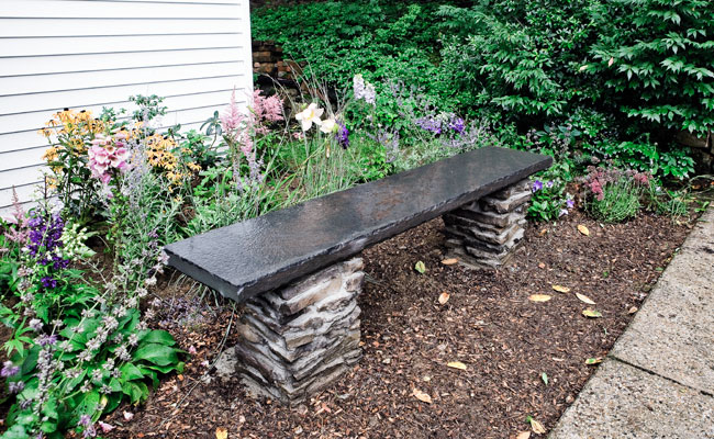How to Build a Stone Garden Bench