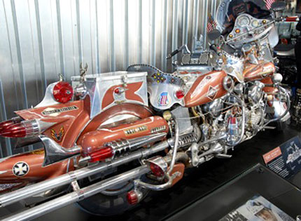 Downstairs In The Late Model Display Is This King Kong Harley One Of A Kind Custom Has Are You Ready Two Complete Engines And Transmissions