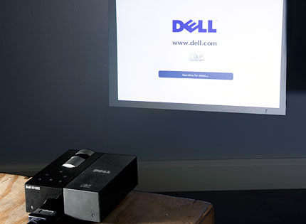 Dell projector reviews with video hands on dell m109s for Micro projector reviews