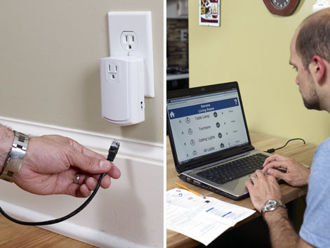 Meshed Networks. Insteon's SmartLinc bridges the home automation network  with your ...
