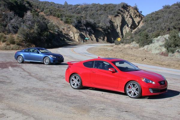 2010 Hyundai Genesis Coupe vs 2009 Infiniti G37 Comparison Test