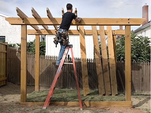 Diy pergola plans how to plan and post a pergola - Pergolas rusticas de madera ...