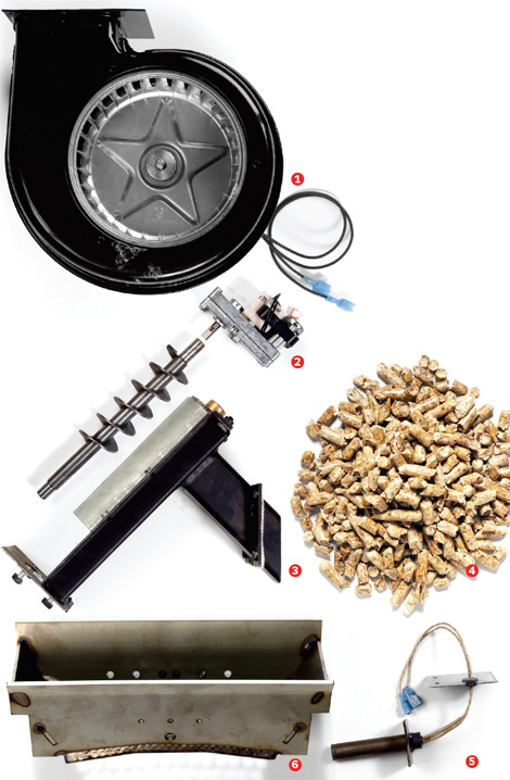 how to install a wood pellet stove the parts
