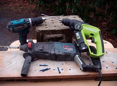 Hammer Drill Vs Rotary Hammer Concrete Drill Tool
