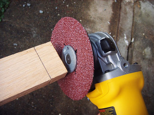 How To Use An Angle Grinder On Wood