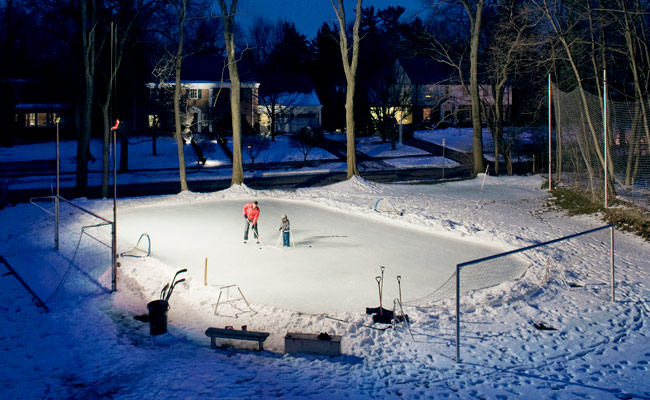 Backyard Ice Skating Rink Diy Hockey Rink
