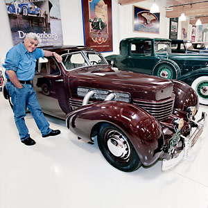 Jay leno and his 1936 cord 810 812 the beautiful baby for Cord motor car for sale