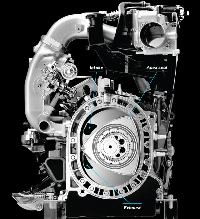 how it works the mazda rotary engine with