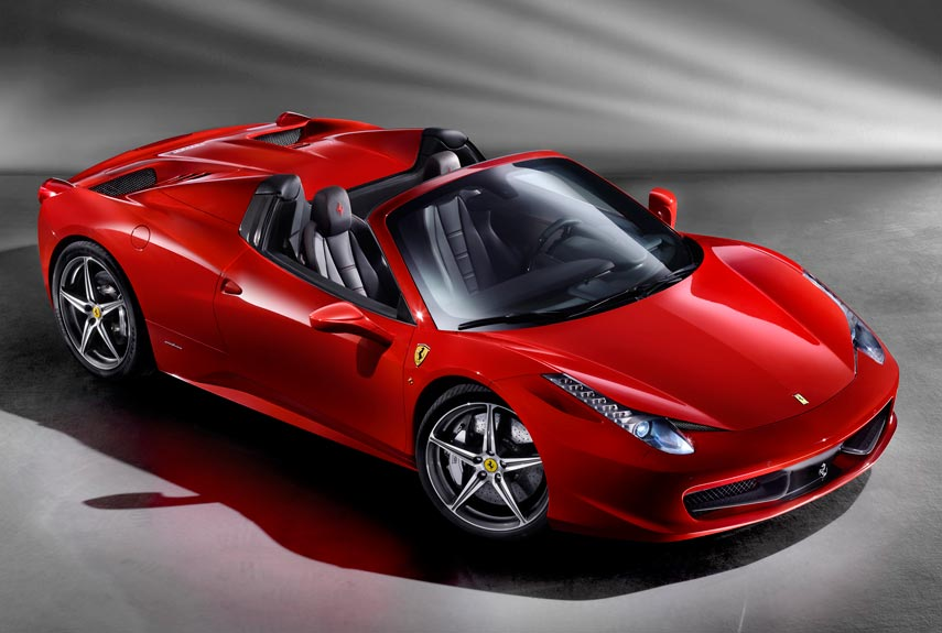 ferraris 458 italia spider is the first ever midengined supercar with a folding metal roof