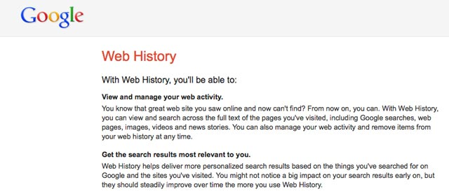 how to delete web pages visited on google