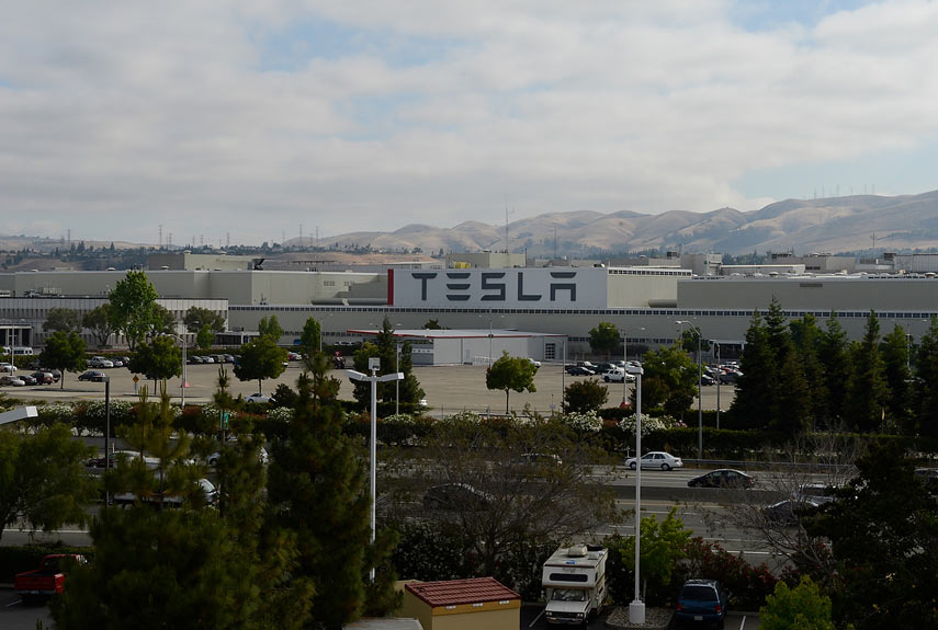Take a Look Inside the Tesla Electric Car Factory