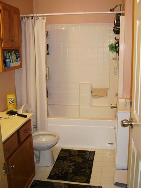 big items like the vanity top and special order tile can take several weeks to arrive so be patient before you take a hammer or sawzall to you bathroom - Small Bathroom Remodel Ideas