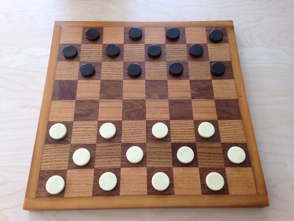 This game board will last for years and the construction technique is similar to building a cutting board. You can also build the pieces for it, or buy them separately.How to Build a Chess and Checkers Board