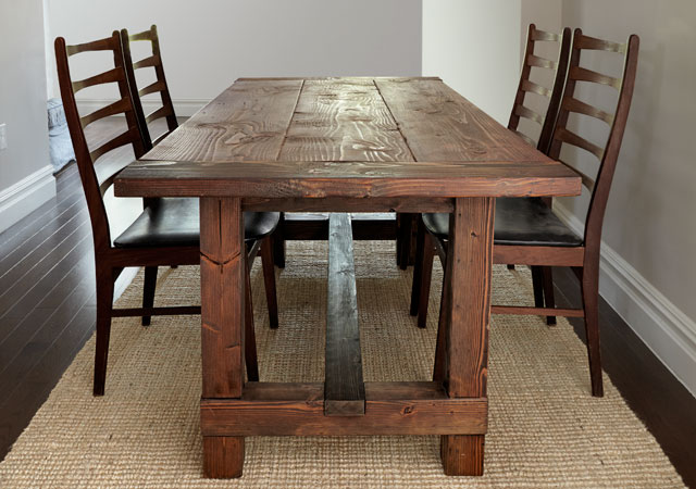 Build this rustic farmhouse table - How to make rustic wood furniture ...