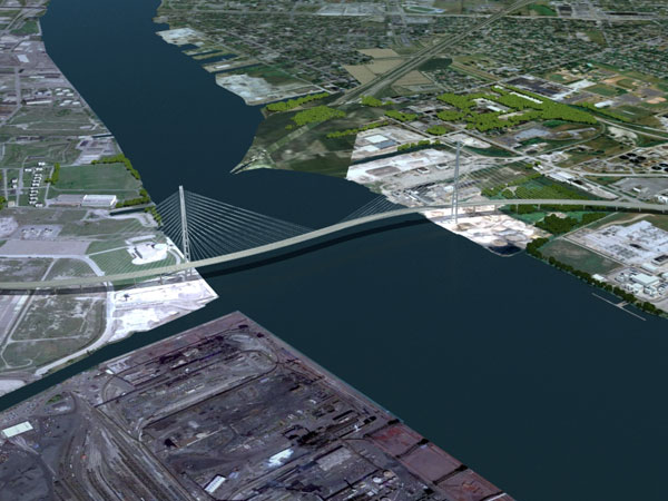 the monumental new ustocanada bridge detroit 2025
