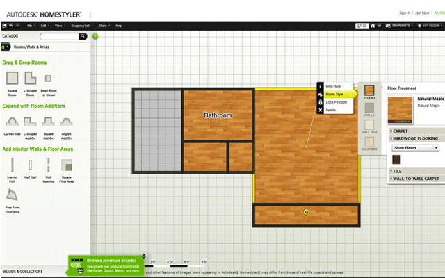 Autodesk  the makers of the AutoCAD professional computer design software   has a free Web app that could be handy for homeowners thinking about a  remodeling. Getting to know Autodesk Homestyler 3D Floor Planner