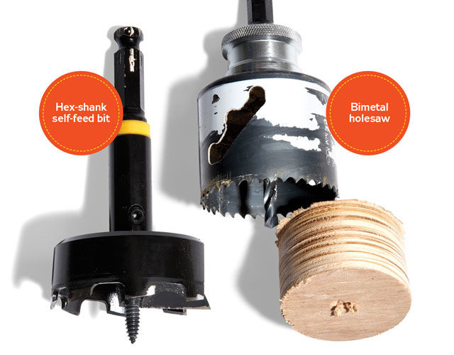 hole saw bit wood. big holes and the tools that make them hole saw bit wood