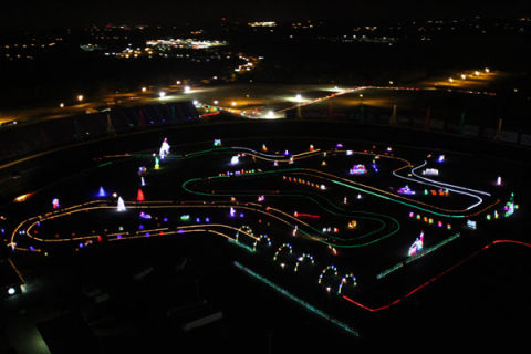 Here 39 s a nascar track covered in 3 million christmas lights for Charlotte motor speedway christmas lights nc