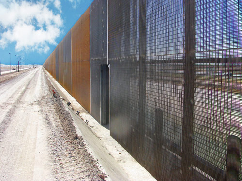 US Border Fence Map Full Map Of US Border Security Tech - Us southern border map