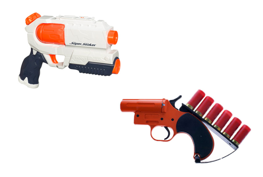 nerf squirt guns Jul 2017  We've seen a lot of neat DIY guns in our day: The assault trombone, the CD gun,  a Nerf gun that breaks the sound barrier, and a host of others.