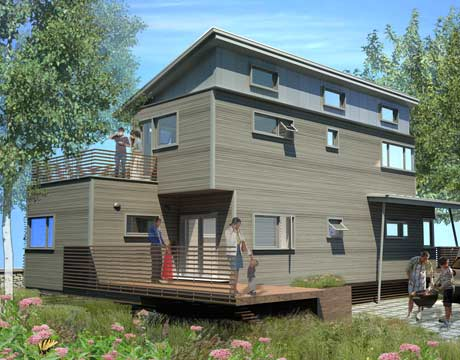 green building prefabricated home that won a design competition to rebuild new orleans. beautiful ideas. Home Design Ideas