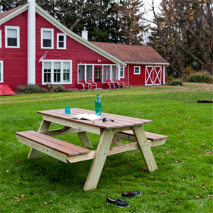 how to build a mini picnic table
