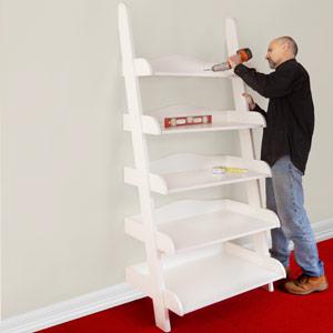 Ladder shelf step by step plans ladder shelf plans for Build ladder shelf plans