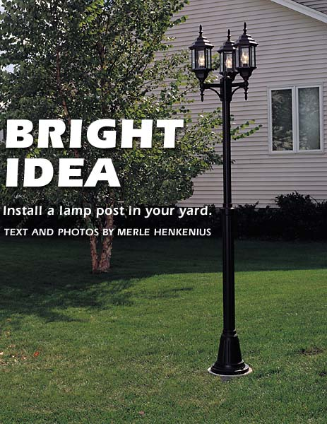 how to install a lamp post in your yard