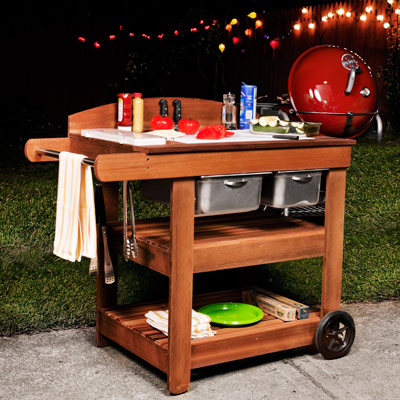 Grill cart plans how to make a grill cart for Outdoor cooking station plans