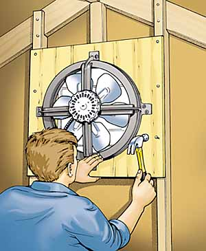 attic fan installation how to install an attic fan installing an attic fan