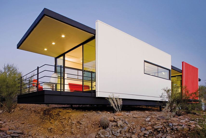 Small Green Homes   Small Eco Housestaliesin mod fab small eco house in desert