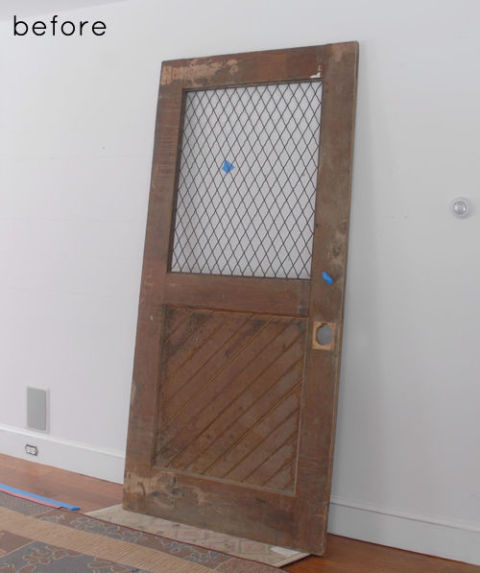 Doors are a dime a dozen on Craigslist. Look for wood doors with great character and panels.