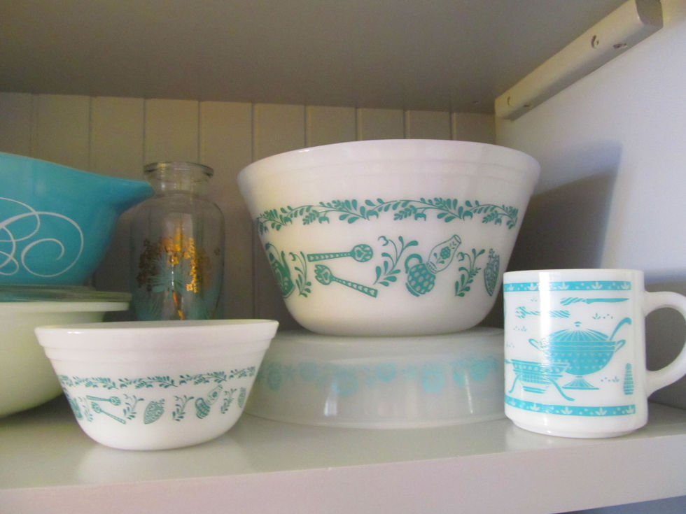 These vintage glass bowls are pretty, but always hidden away in cabinets.
