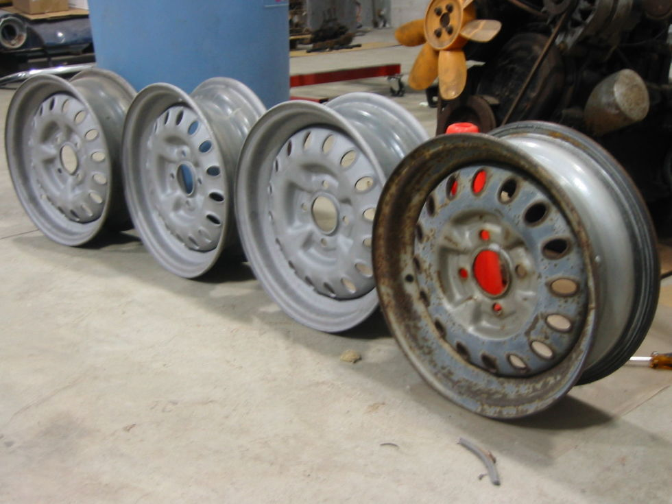 Landfills are full of steel rims available for cheap.