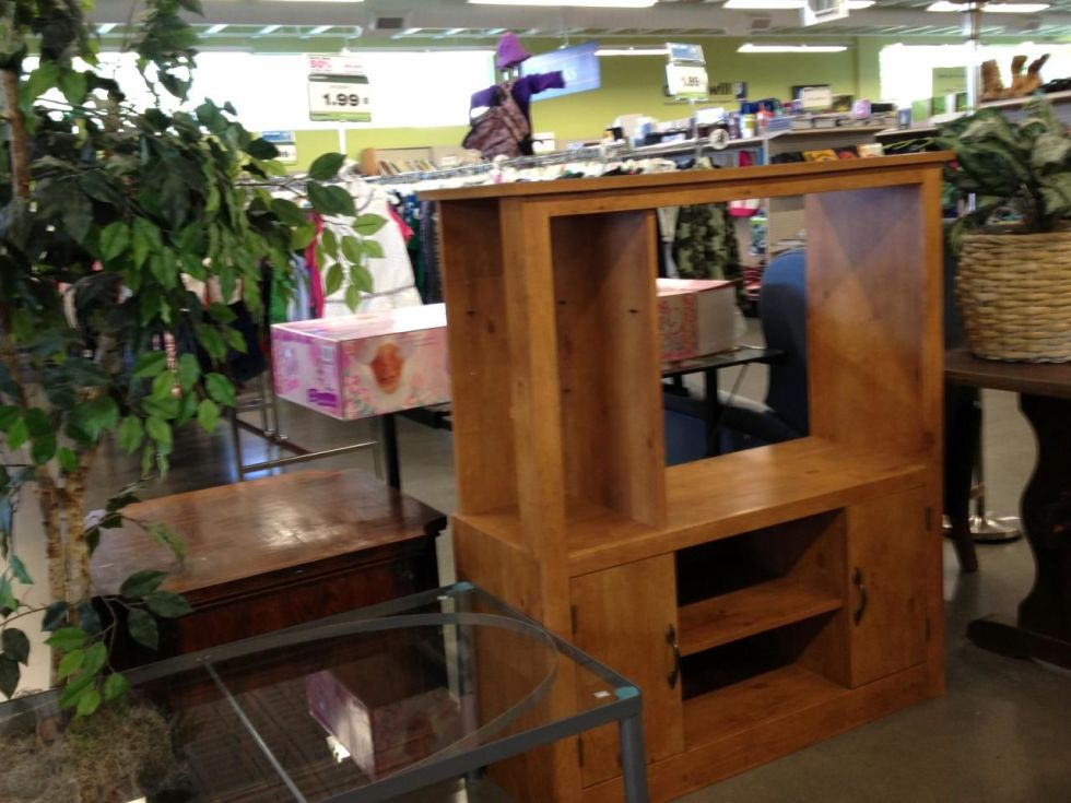Abandoned entertainment centers are available at thrift stores across the country.