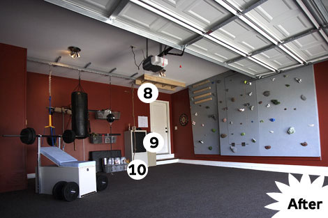 Garage turned into gym for Convert two door garage into one